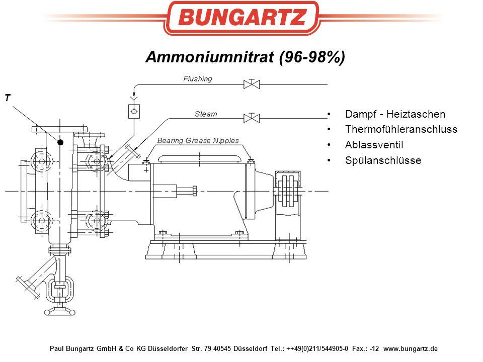 Ammoniumnitrat (96-98%) Dampf - Heiztaschen Thermofühleranschluss