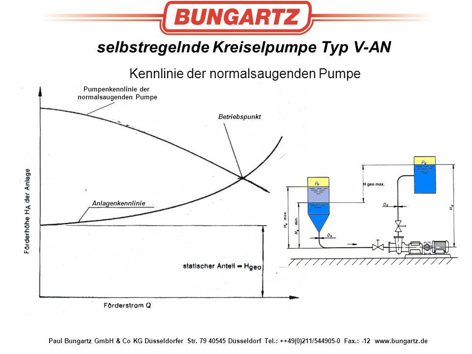 selbstregelnde Kreiselpumpe Typ V-AN