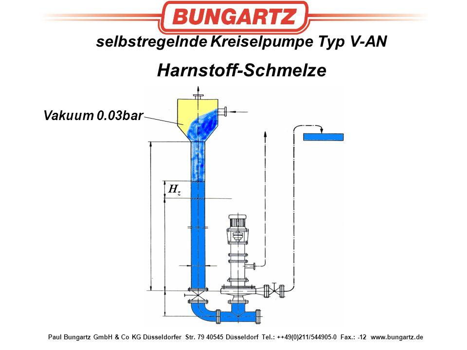 selbstregelnde Kreiselpumpe Typ V-AN Harnstoff-Schmelze