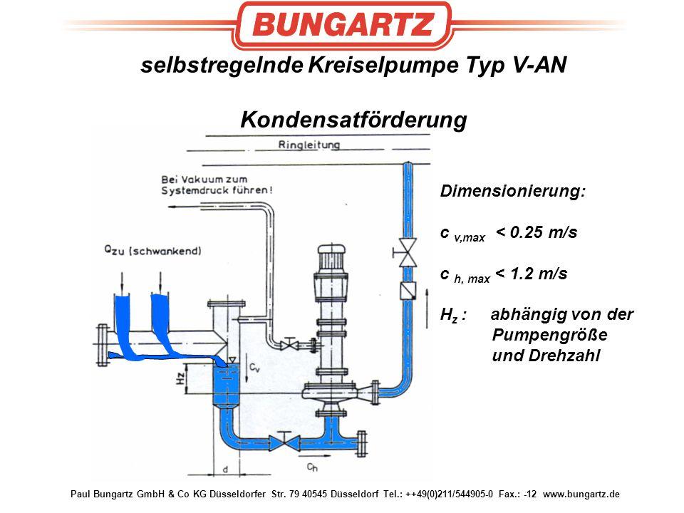 selbstregelnde Kreiselpumpe Typ V-AN Kondensatförderung