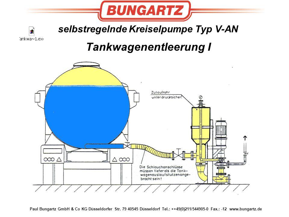 selbstregelnde Kreiselpumpe Typ V-AN Tankwagenentleerung I