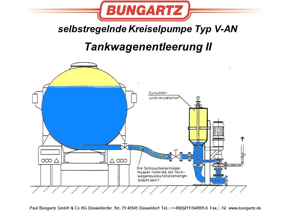 selbstregelnde Kreiselpumpe Typ V-AN Tankwagenentleerung II