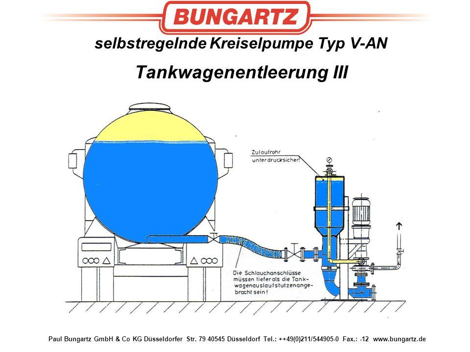 selbstregelnde Kreiselpumpe Typ V-AN Tankwagenentleerung III