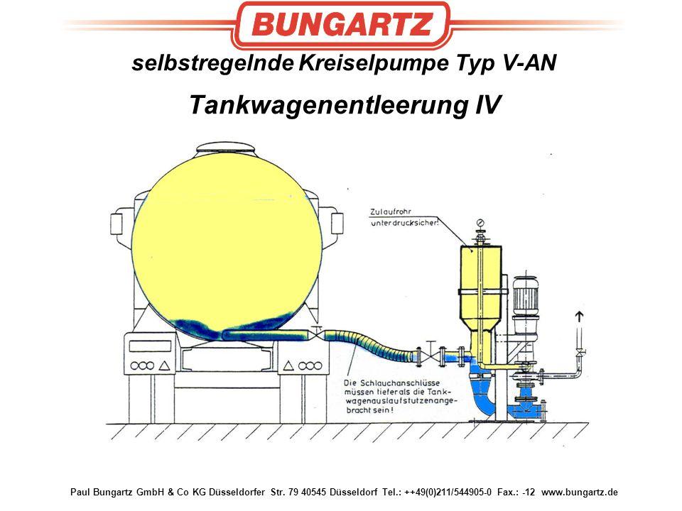 selbstregelnde Kreiselpumpe Typ V-AN Tankwagenentleerung IV