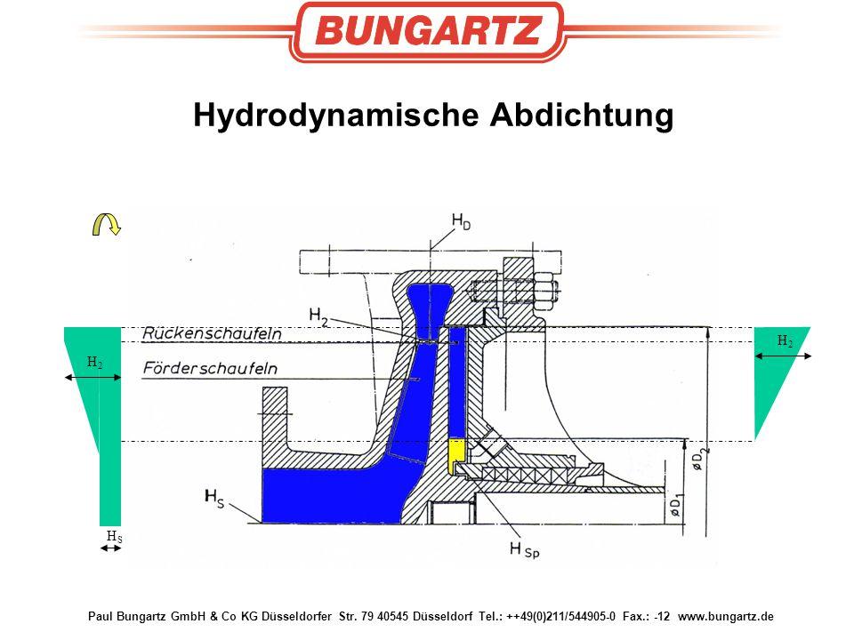 Hydrodynamische Abdichtung