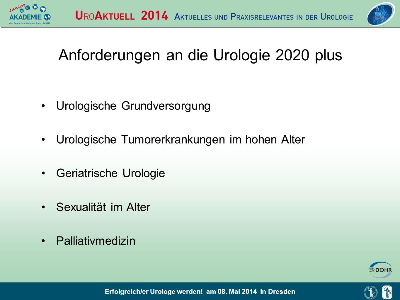 Anforderungen an die Urologie 2020 plus