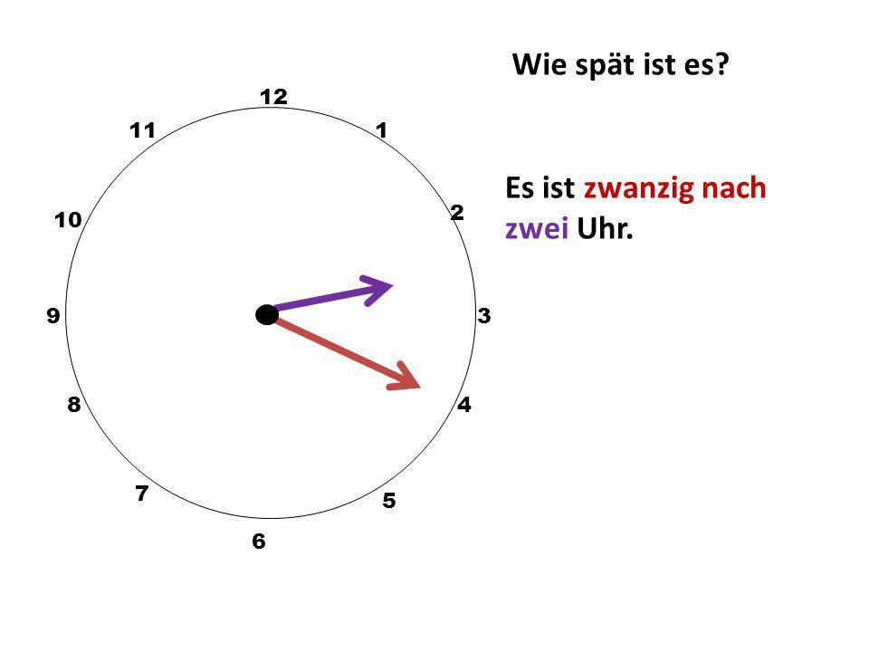 Es ist zwanzig nach zwei Uhr.