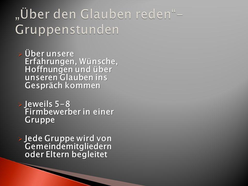 """""""Über den Glauben reden - Gruppenstunden"""