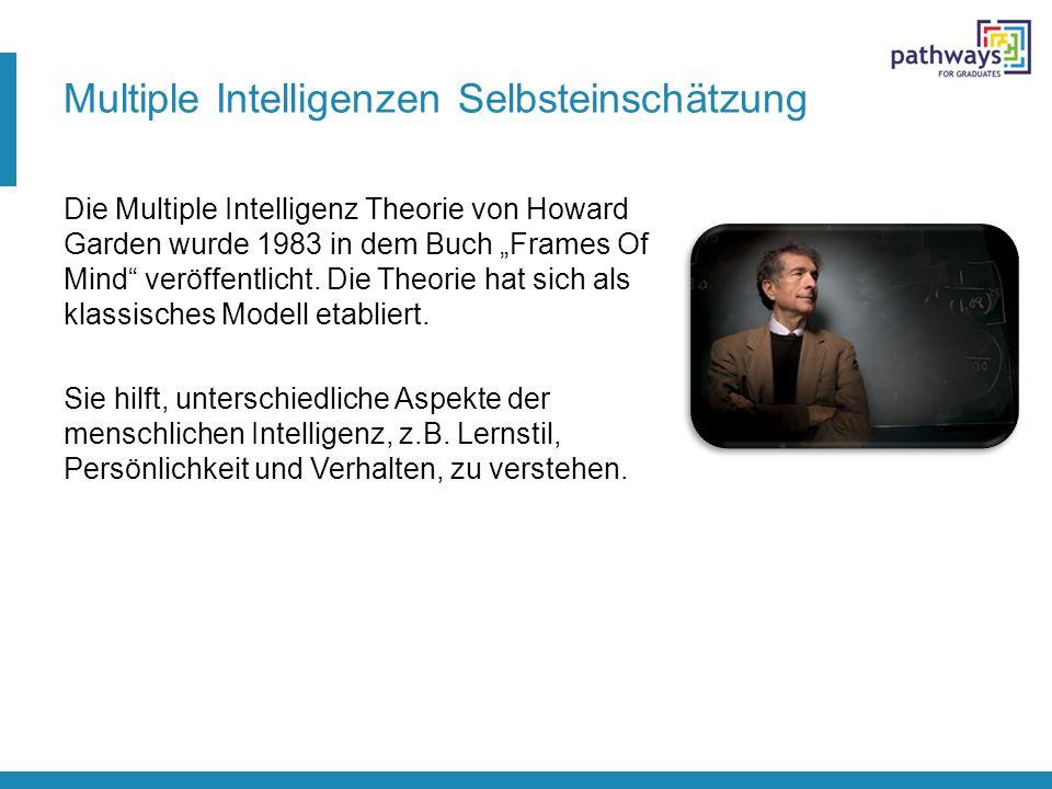 Multiple Intelligenzen Selbsteinschätzung
