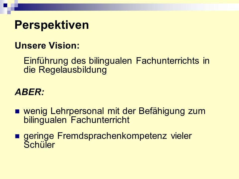 Perspektiven Unsere Vision: ABER: