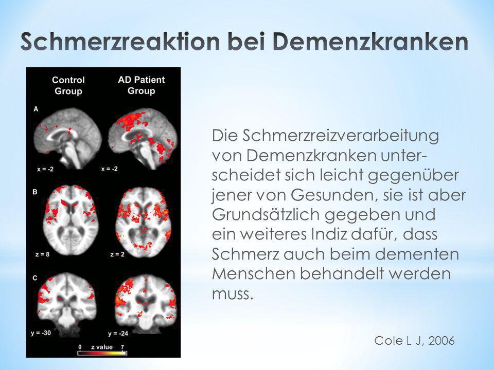 Schmerzreaktion bei Demenzkranken