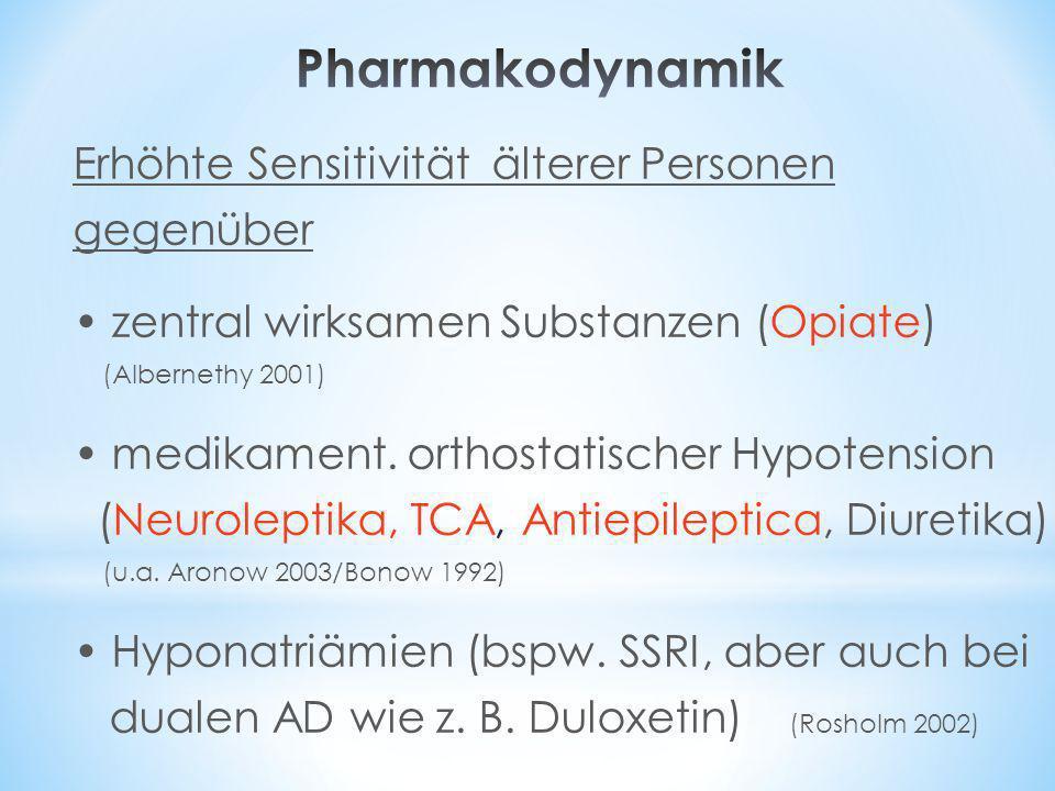 Pharmakodynamik Erhöhte Sensitivität älterer Personen gegenüber