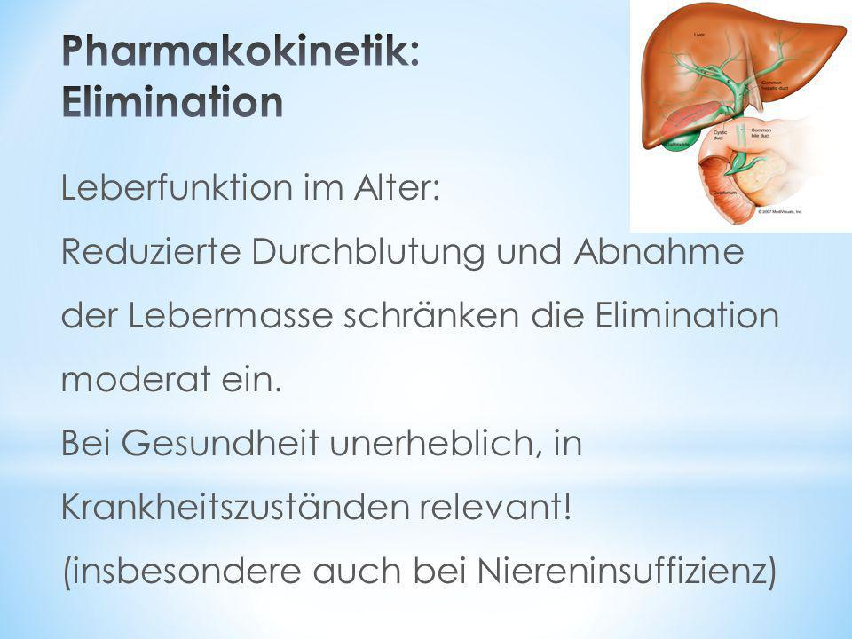 Pharmakokinetik: Elimination