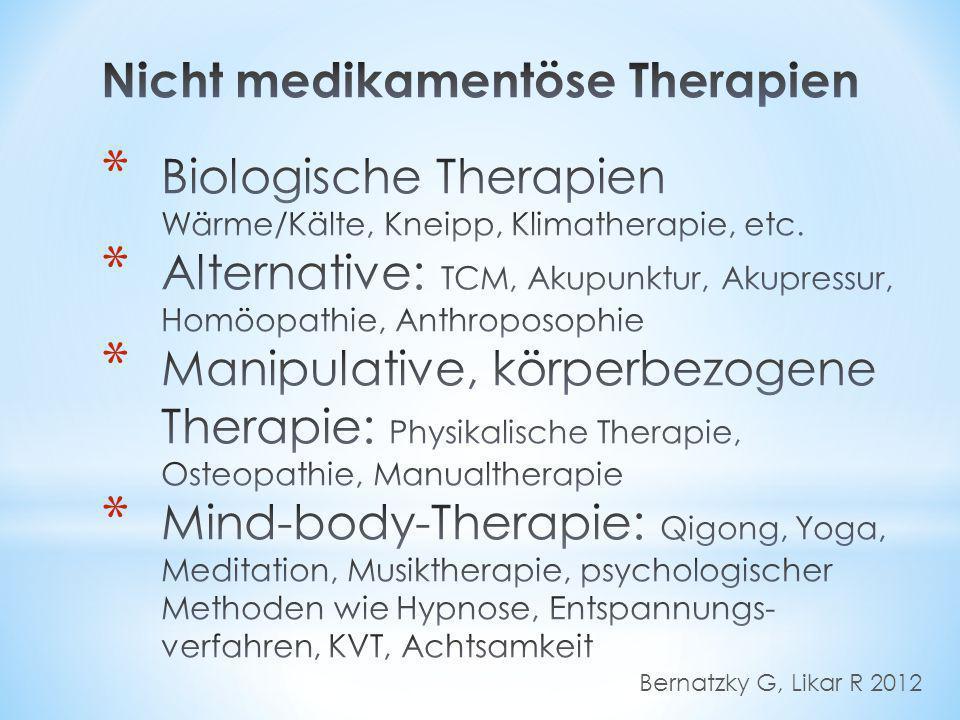 Nicht medikamentöse Therapien