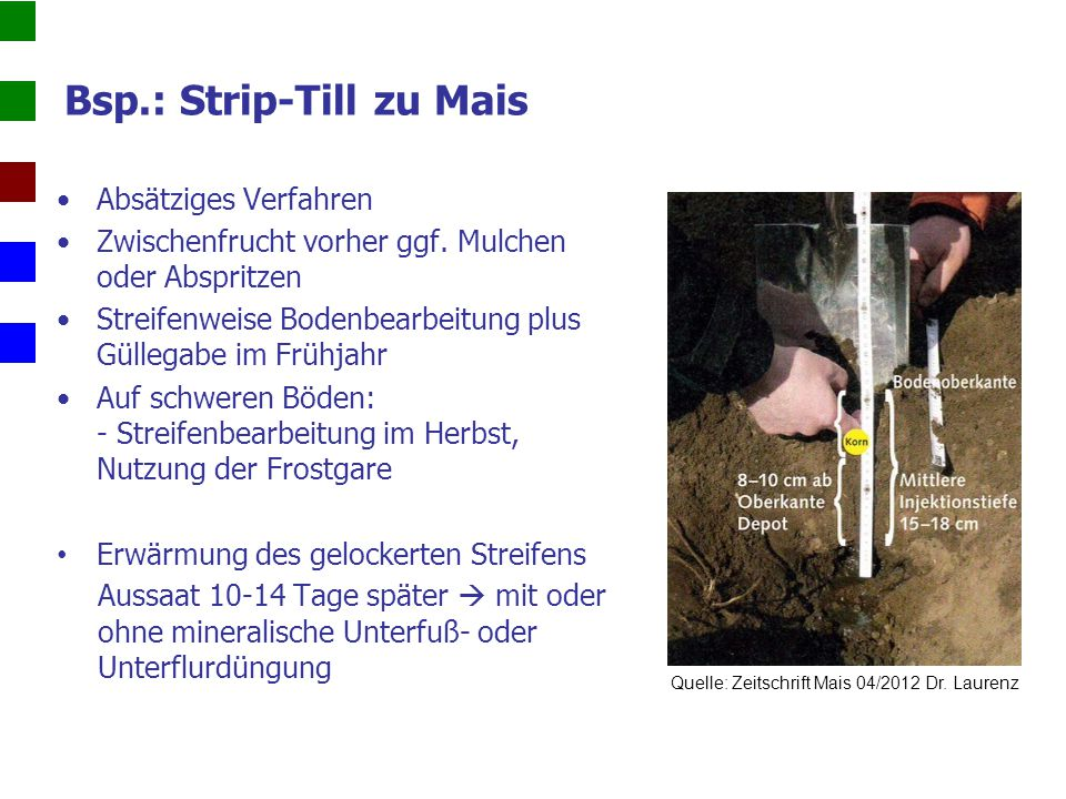 Bsp.: Strip-Till zu Mais