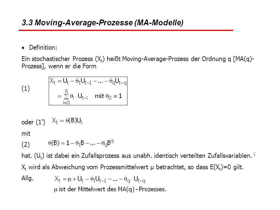 3.3 Moving-Average-Prozesse (MA-Modelle)