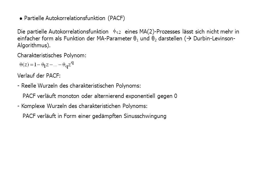 ● Partielle Autokorrelationsfunktion (PACF)