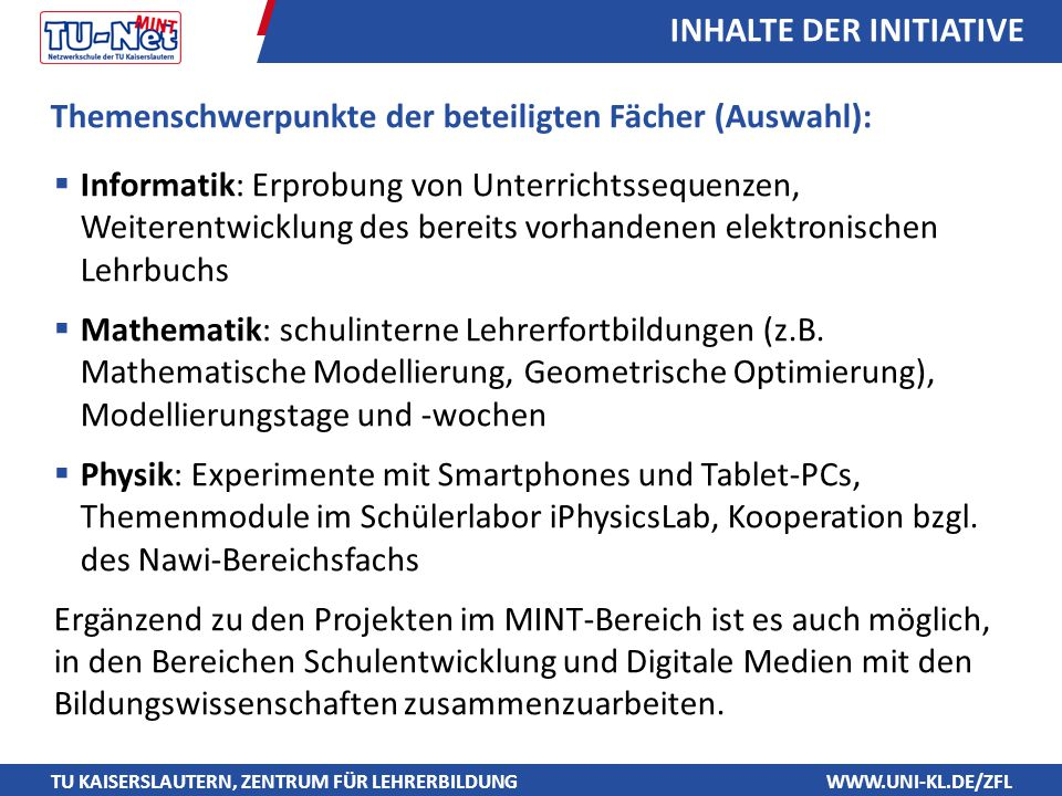 INHALTE DER INITIATIVE