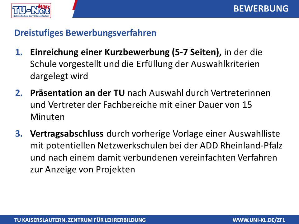 BEWERBUNG Dreistufiges Bewerbungsverfahren.
