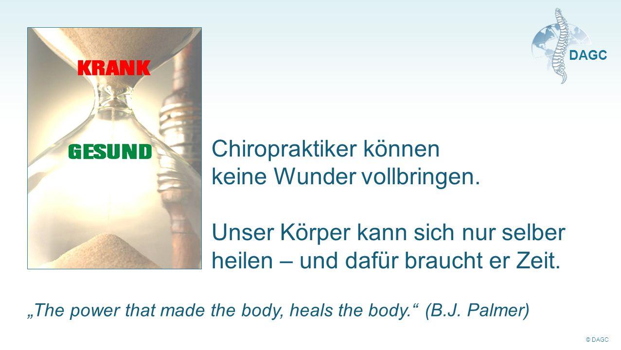 Chiropraktiker können keine Wunder vollbringen.