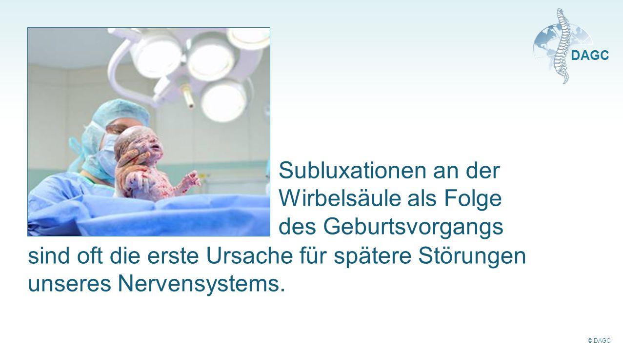 Subluxationen an der Wirbelsäule als Folge des Geburtsvorgangs