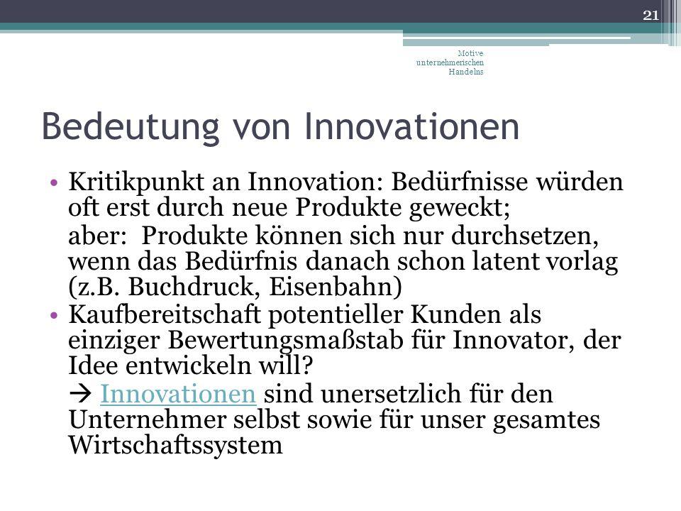 Bedeutung von Innovationen
