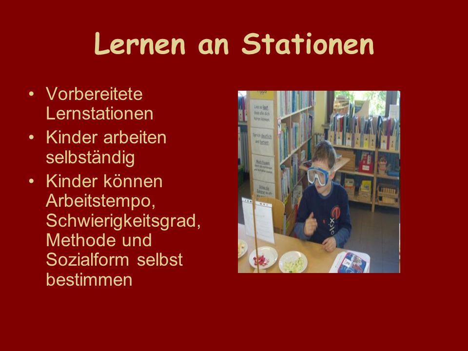 Lernen an Stationen Vorbereitete Lernstationen
