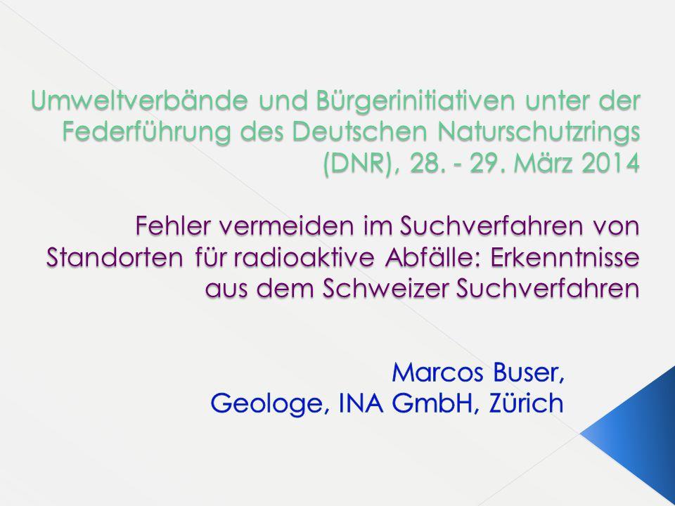 Marcos Buser, Geologe, INA GmbH, Zürich