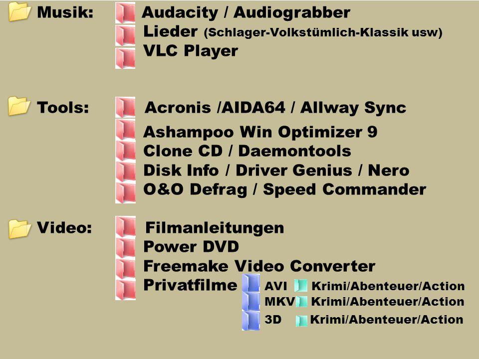 Musik: Audacity / Audiograbber