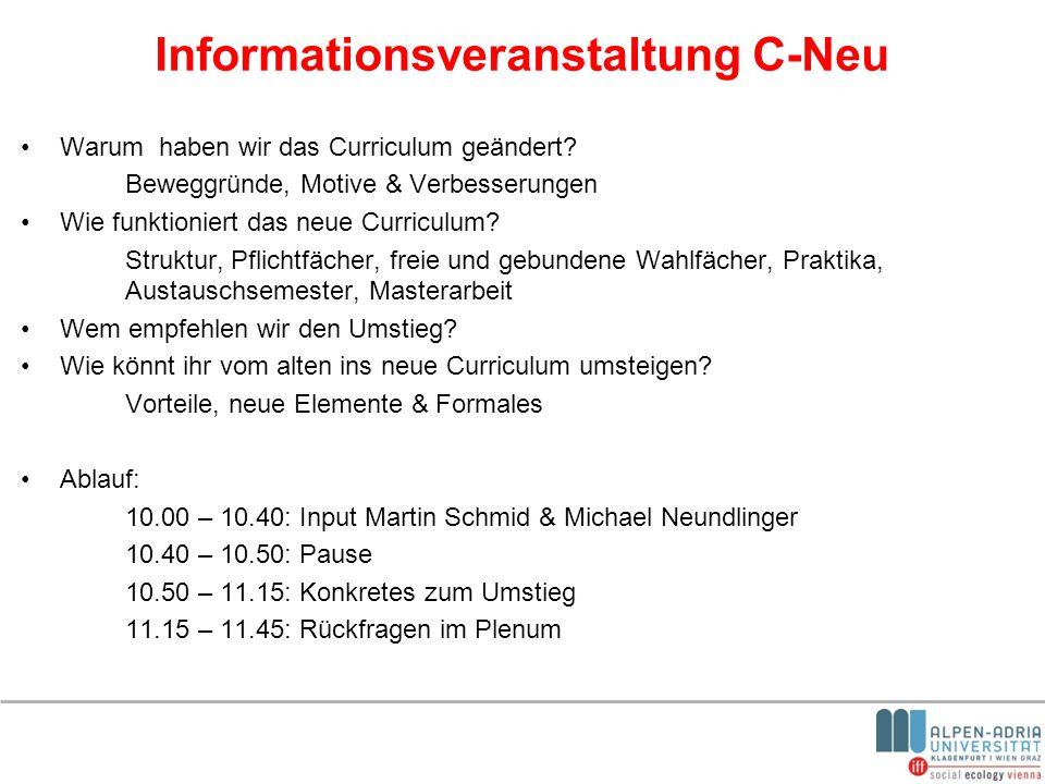 Informationsveranstaltung C-Neu
