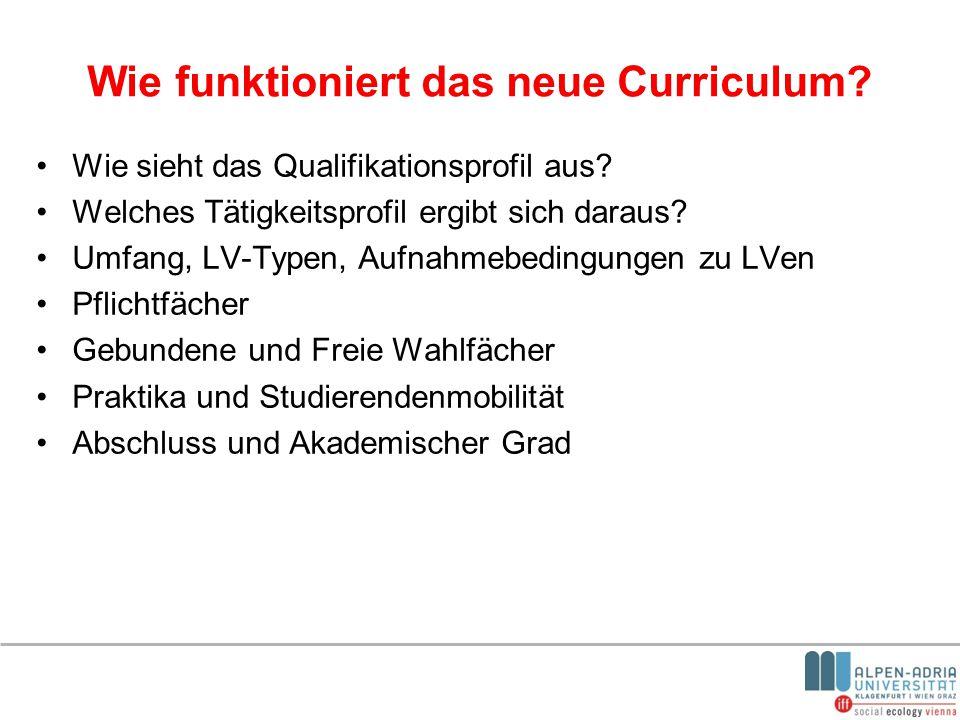 Wie funktioniert das neue Curriculum