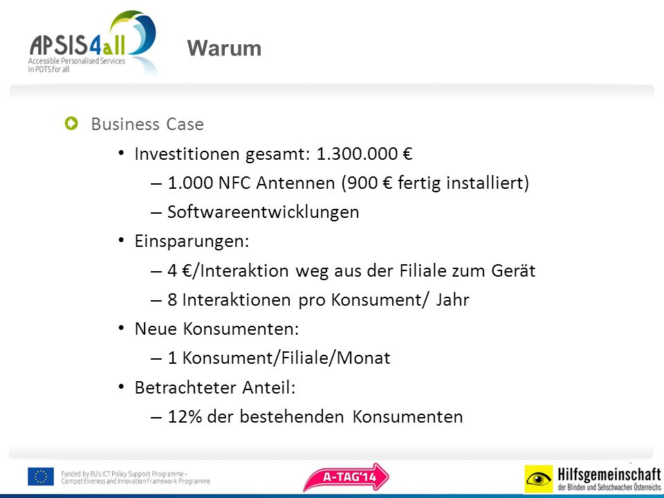 Warum Business Case Investitionen gesamt: 1.300.000 €
