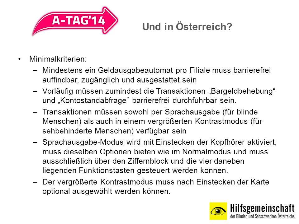 Und in Österreich Minimalkriterien: