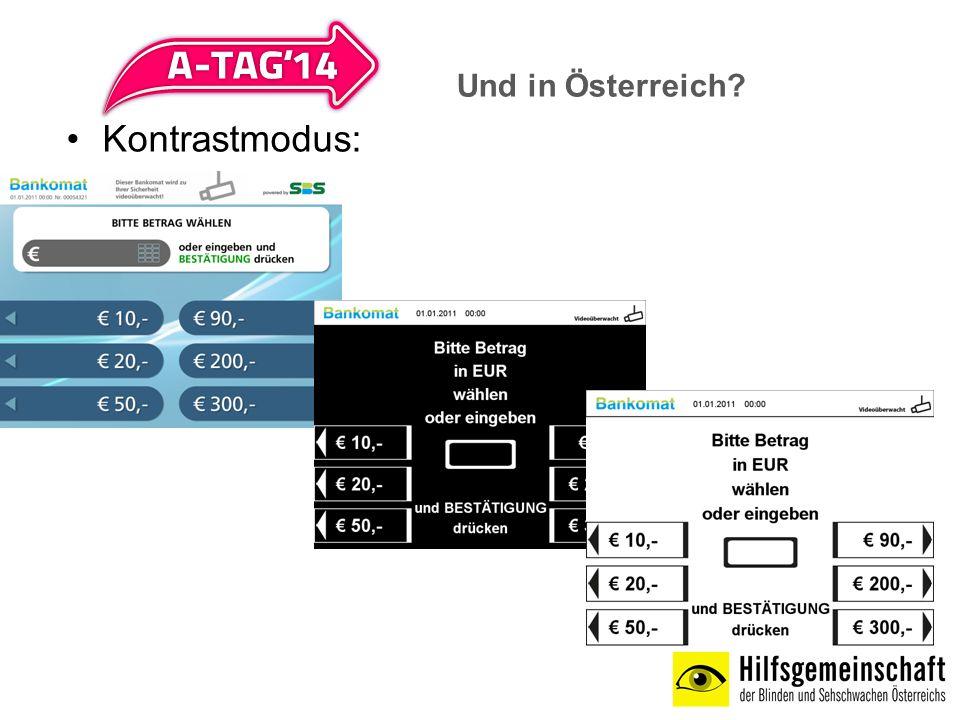 Und in Österreich Kontrastmodus: