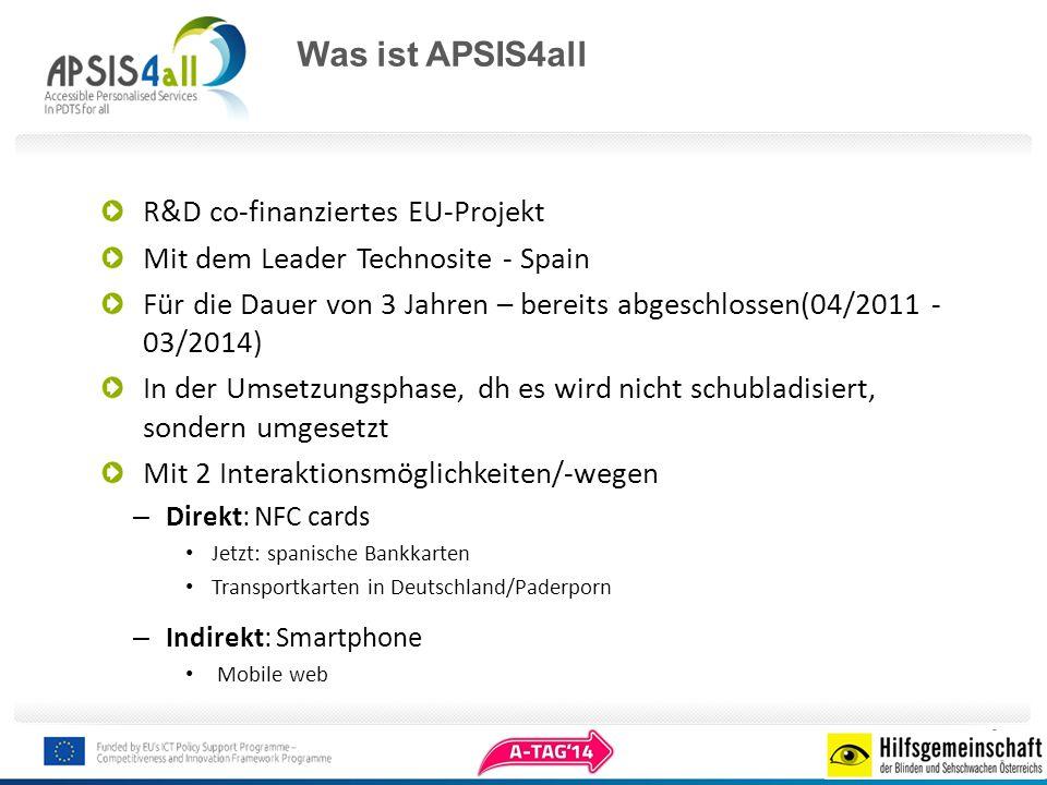 Was ist APSIS4all R&D co-finanziertes EU-Projekt