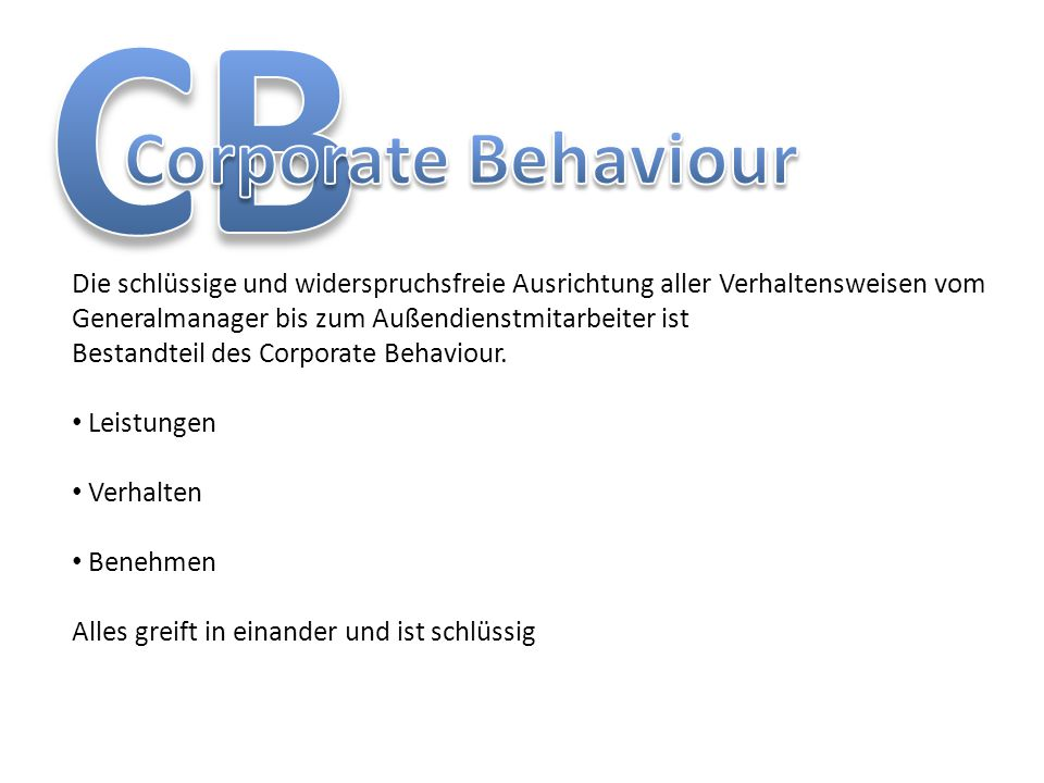 CB Corporate Behaviour