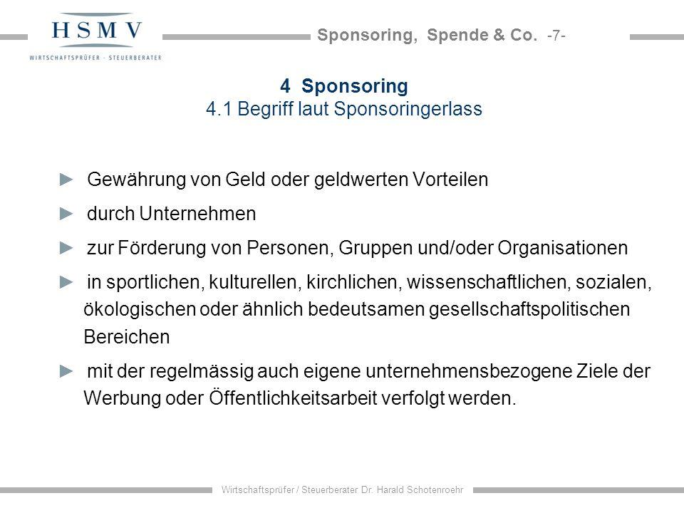 4 Sponsoring 4.1 Begriff laut Sponsoringerlass