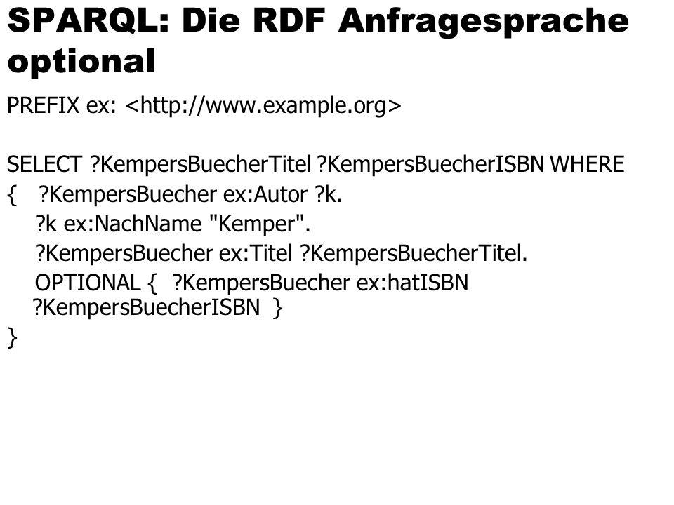 SPARQL: Die RDF Anfragesprache optional