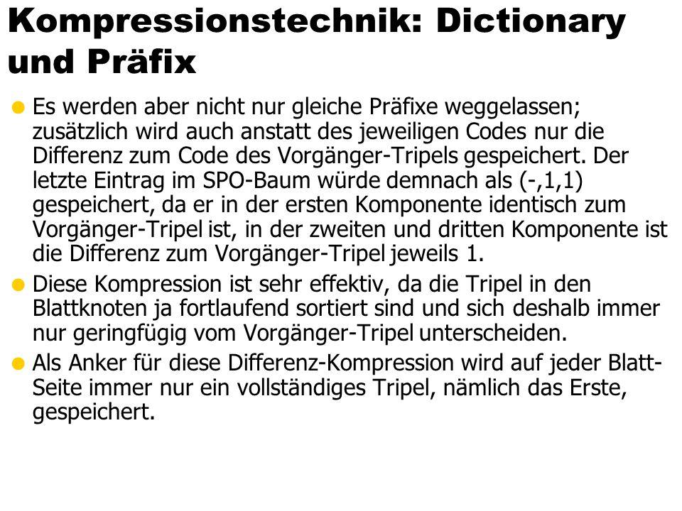 Kompressionstechnik: Dictionary und Präfix