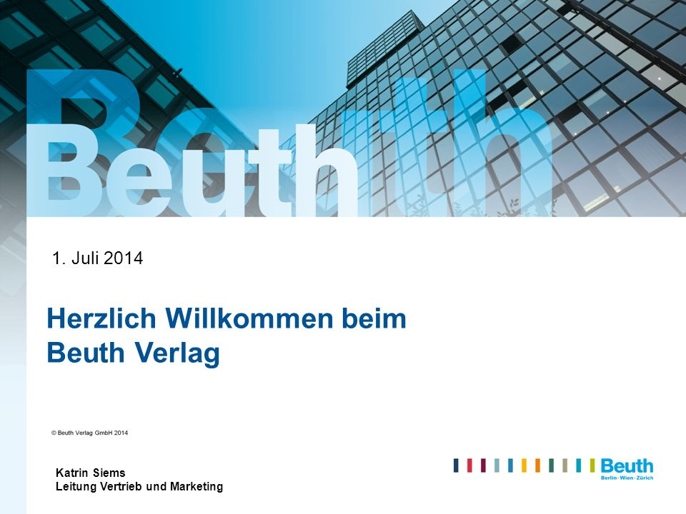 Herzlich Willkommen beim Beuth Verlag