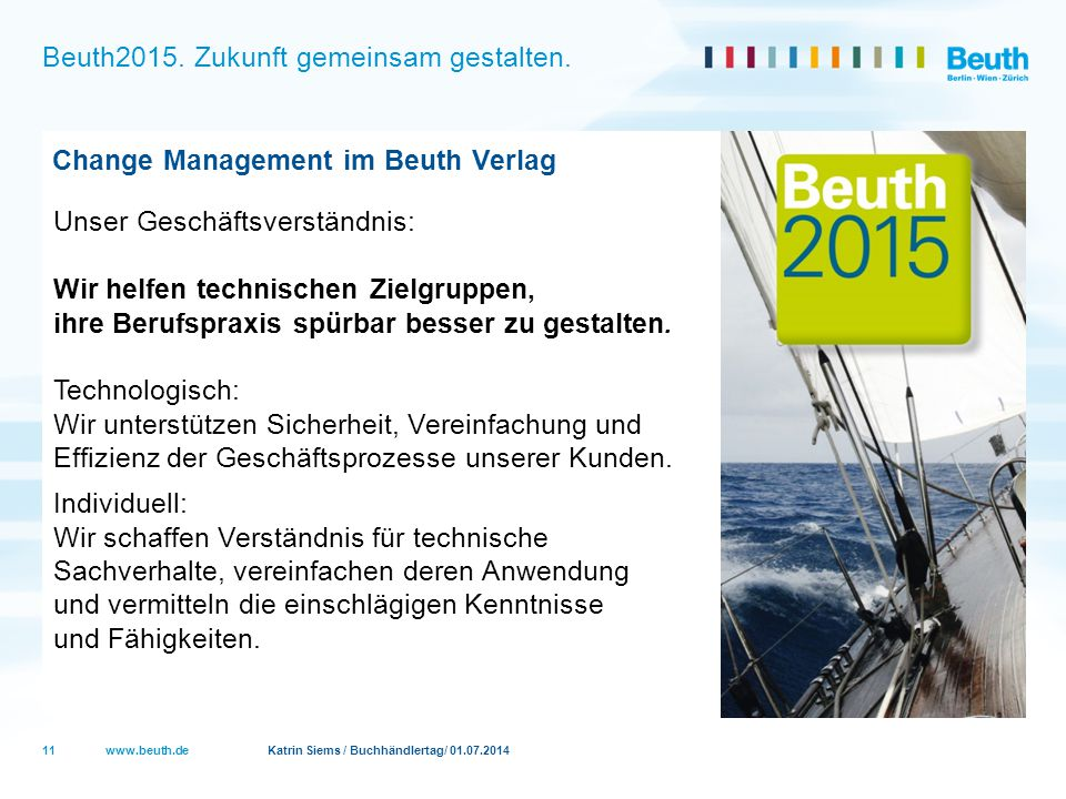 Beuth2015. Zukunft gemeinsam gestalten.