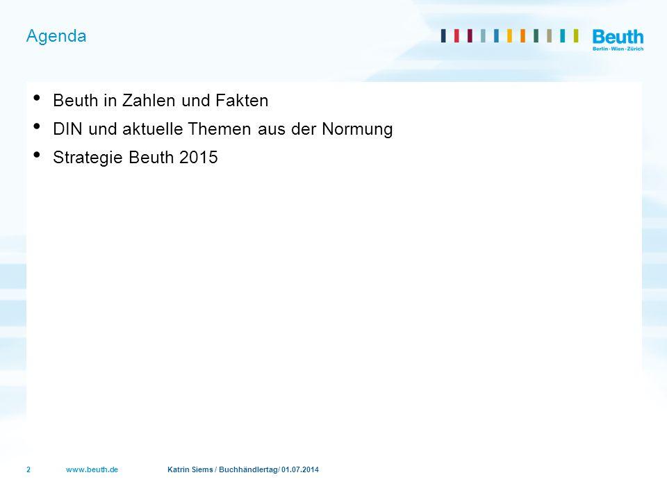 Beuth in Zahlen und Fakten DIN und aktuelle Themen aus der Normung