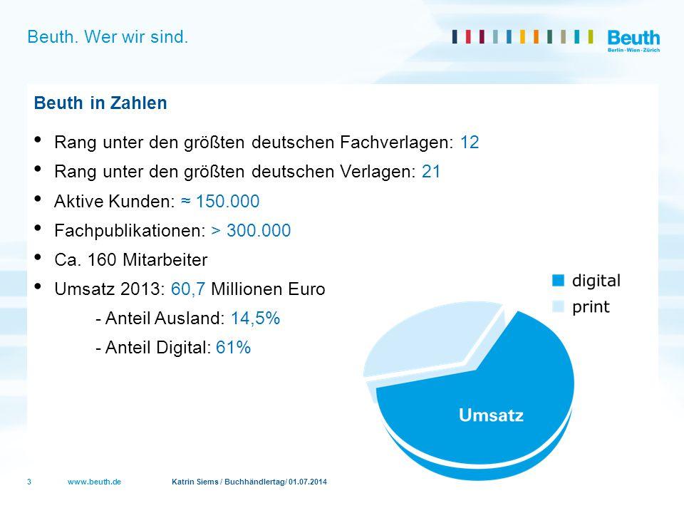 Rang unter den größten deutschen Fachverlagen: 12