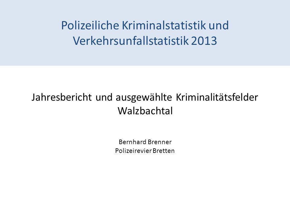 Polizeiliche Kriminalstatistik und Verkehrsunfallstatistik 2013
