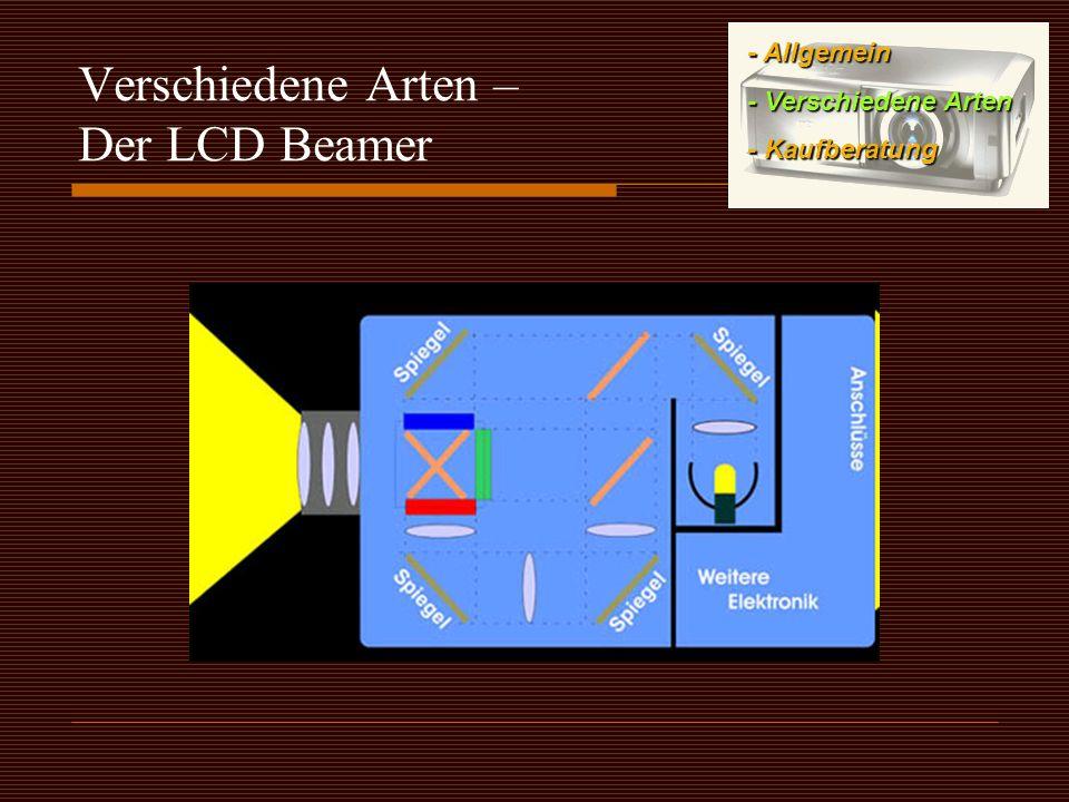 Verschiedene Arten – Der LCD Beamer