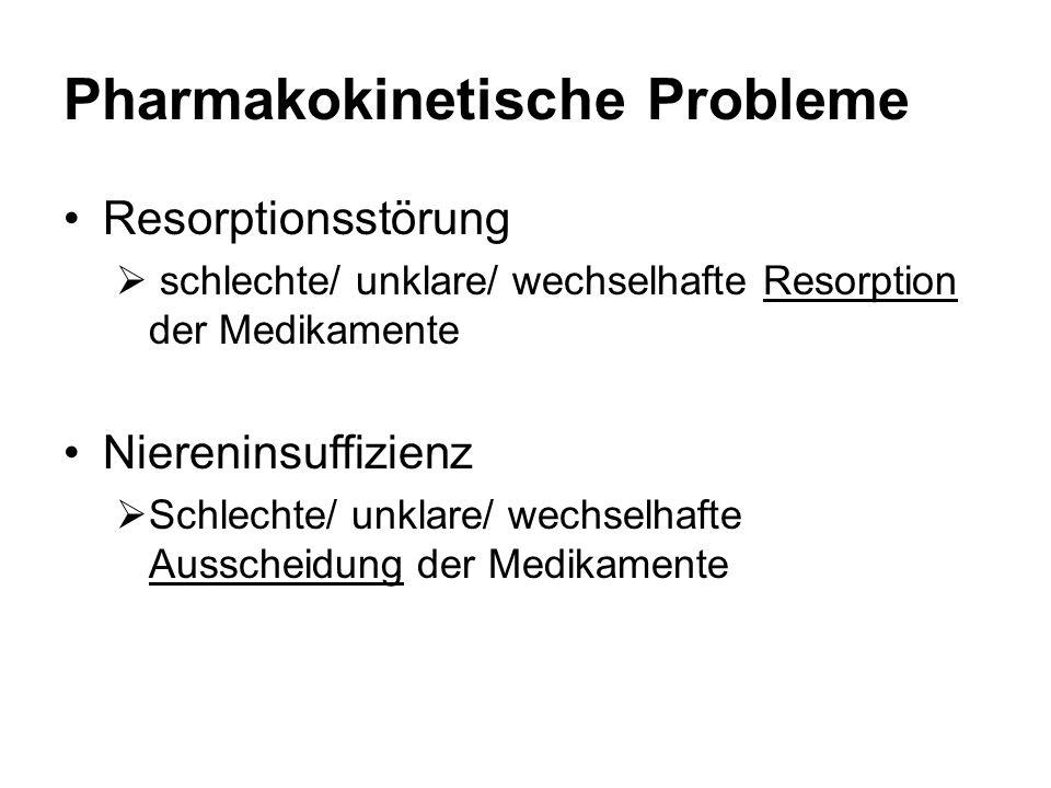 Pharmakokinetische Probleme