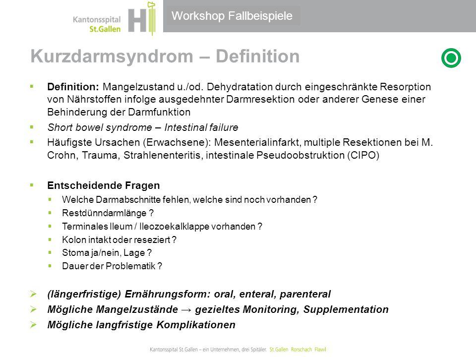 Kurzdarmsyndrom – Definition