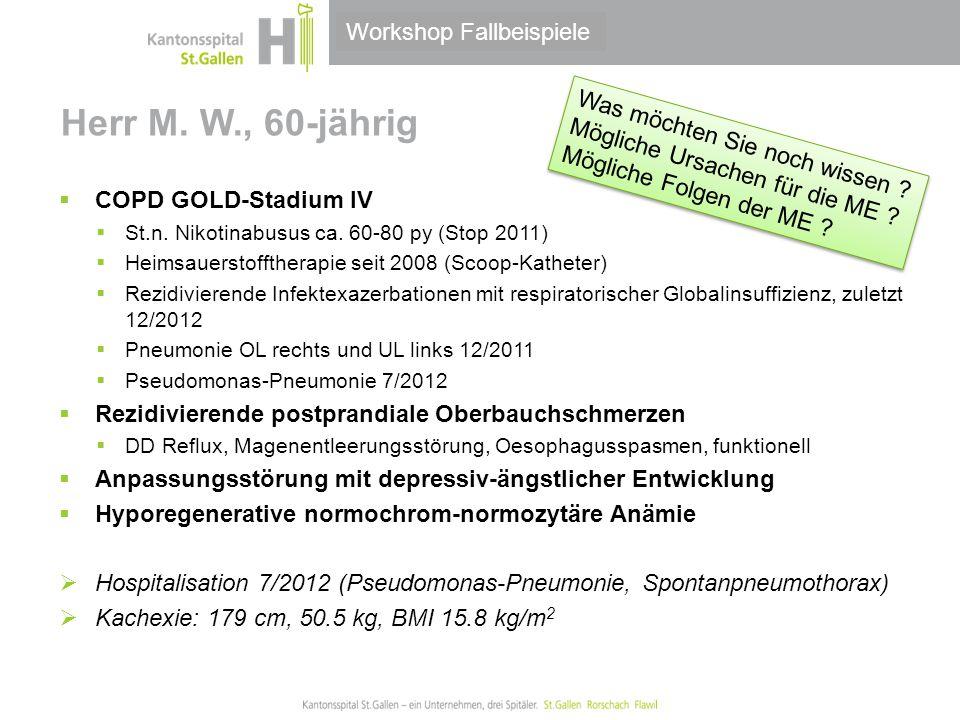 Herr M. W., 60-jährig Workshop Fallbeispiele