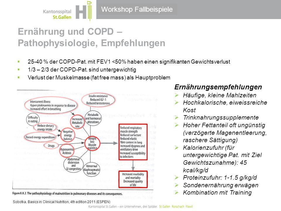 Ernährung und COPD – Pathophysiologie, Empfehlungen
