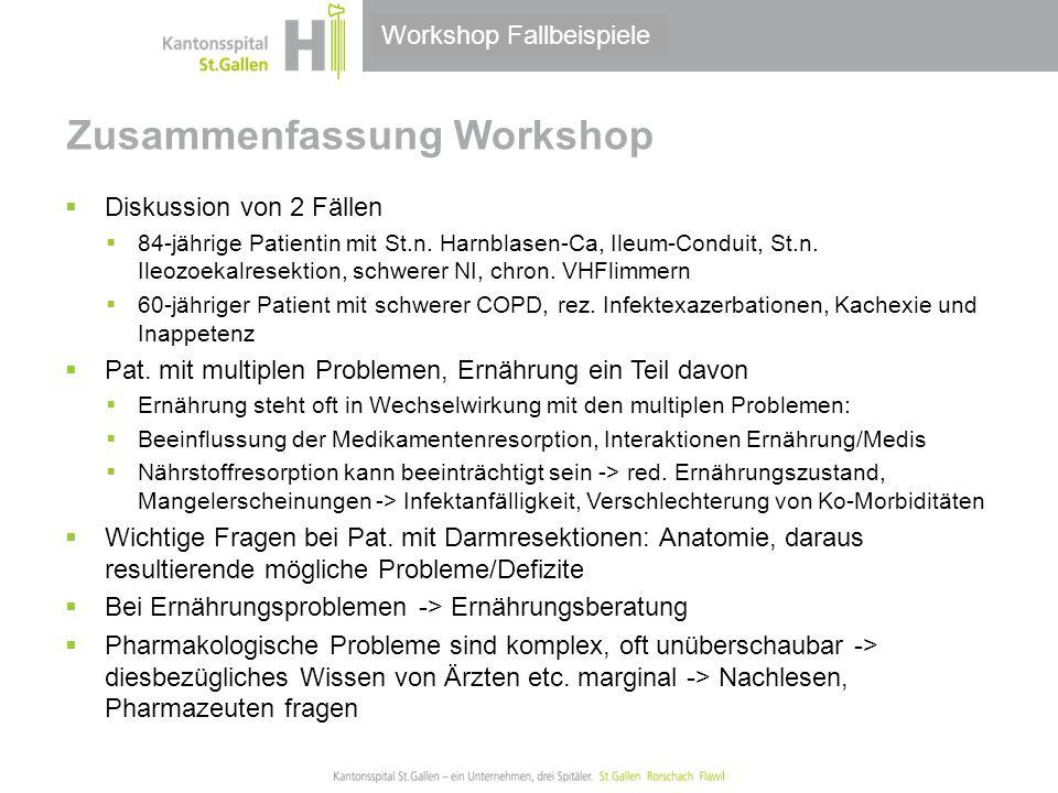 Zusammenfassung Workshop